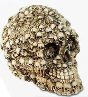 Alchemy Skull Decorated with Skeletons Gothic Decor