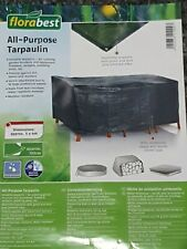 Florabest All Purpose Tarpaulin 3m x 4m Garden Seat / Shed /Swing / Box Cover