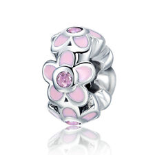 Silver Charm Spacer Romantic Flower Circus