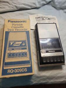Vintage Panasonic Portable Cassette Tape Recorder RQ-309DS w/ Manual works