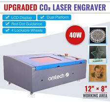 Omtech 40w Co2 Laser Engraver Cutting Machine 12x 8 Cutter Red Dot Guidance
