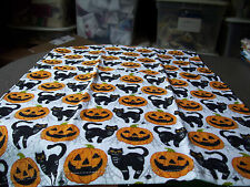 Halloween Black Cat Cats  Jack O Laterns Pumpkins Spiders Whole Kitchen Towel