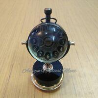 Antique Brass Desk Clock Mechanical Vintage Table Top Decorative Gift