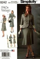 Simplicity Sewing Pattern 8242 Womens Vintage Replica Two Piece Dress Size 10-18