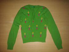 Damen Mädchen Strick Pullover Oberteil Benetton Gr 36 S grün Top Lammwolle