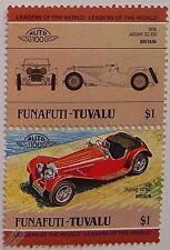 1936 JAGUAR SS100 voiture timbres (les dirigeants du monde / auto 100)