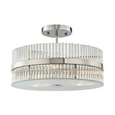 ELK Lighting Nescott 3-Light Semi Flush, Chrome/Crystal Rods - 45285-3
