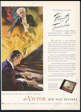 1945 Vladimir Horowitz portrait at piano Rca Victor Records vintage print ad