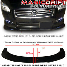 For Infiniti G37 FRONT BUMPER LIP FLAT UNDER PANEL SPLITTER DIFFUSER WIND BLADE