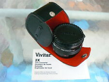 VIVITAR MC 2X TELE CONVERTER FOR PENTAX KA / K MOUNT MANUAL FOCUS *RARE & MINT