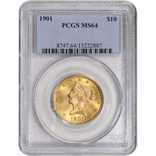 1901 US Gold $10 Liberty Head Eagle - PCGS MS64