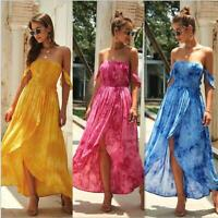 Evening Maxi Beach Dress Cocktail Boho Long Women's Summer Floral Sundress Party