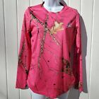 Mossy Oak Pink Camouflage Shirt With Matching Hat. Preowned Excellent Condition