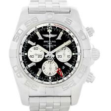 Breitling Chronomat GMT Steel Black Dial Mens Watch AB0410 Box Papers