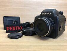 Nahe Mint Pentax 645NII Mittelformat Kamera Mit / Fa 75mm F/2.8 Linse & 2 Rücken