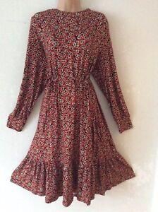 L.K.BENNETT size 16 Beautiful Cherry Blossom Print CARINA Jersey Dress
