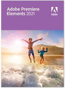 Adobe Premiere Elements 2021 1 PC | or Mac Full Version Download 1 user UK EU