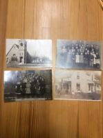 4 Postcards Newport Milford Macy And Monticello Ind. RPPC INV-P100