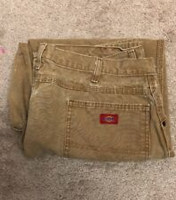 Dickies Work Denim Jeans Mens Size 40 x 30 Relaxed Fit Straight Leg Brown