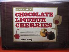 2x TRADER JOE'S DARK CHOCOLATE LIQUEUR CHERRIES 4.44% V/W 33pcs/box 14.1oz NEW