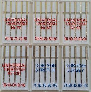30 Nähmaschinennadeln Universal 70-100 - Jersey - Stretch 130/705H Flachkolben