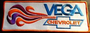 "RARE VINTAGE 1970'S CHEVROLET VEGA BACK PATCH 10 1/2"" X 4"" NEW & MINT"
