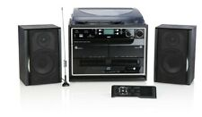 Kompaktanlage DAB+ Plattenspieler Radio Kassette CD USB SD MP3 Encodingfunktion