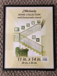 11 x 14 Gallery Black  Aluminum Picture Frame - made by MSC/ Michaels