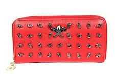 FreshGadgetz giovanile Teschio moda Borsetta Portafoglio per Le Donne Donna-Rosso