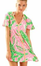 NWT Lilly Pulitzer Tiki Pink Sneaky Tiki Bonita Cover Up Tunic Dress XL