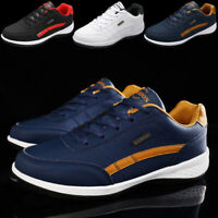 Men's Leather Athletic Running Sneakers Fashion Outdoor Walking Driving Shoes