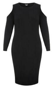 CITY CHIC M 18 NWT RRP $89.95 DRESS SWEET SHOULDER BLACK
