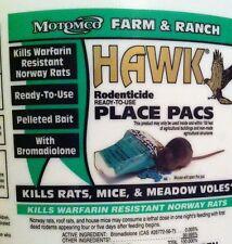 Hawk bromadiolone pks(10) poison pellets kill rats mice voles rodents NEW2017