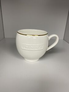 Official Twinings Ceramic White Mug With Gold Rim Unboxed