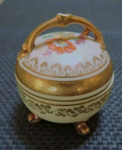 Rare Mid Century Oscar Schlegelmilch Bavaria Germany - Round Lidded Trinket Box