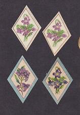 4 petites étiquettes Savon à la Violette dimension 3,2 cm x 4,8 cm  BN17000