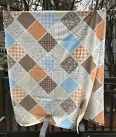 Vintage Sears flat sheet patchwork pattern full size