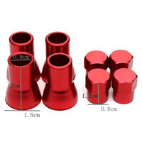 4X Red Universal Car Accessories Car Wheel Tyre Valve Stems Hex Caps Covers Kits