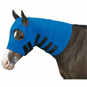 Equi Prene Face and Neck Horse Sweat Hood Blue