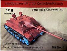 1:16 Modell Bausatz Model Kit / Jagdpanzer IV 70 Zwischenlösung RC Panzer Tank