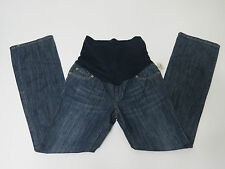 Liz Lange Maternity Stonewashed Boot Cut Jeans Pockets Stretchable Size 2