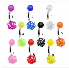 MA-65 Dice Belly Bar Try you luck Great Xmas present UK Stock 6 colours16G 1.2