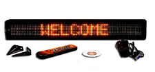 New! One Line SemiOutdoor ULTRA BRIGHT AMBER LED Programmable Scrolling Sign 26""