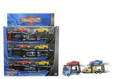 DIECAST CAR TRANSPORTER - 3 cars 2 levels - city car transporter by TEAMSTERZ