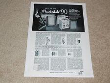 Wharfedale W90 Haut Parleur Ad, 1963, Articles, Infocus, 1 Pg , Rare Ad