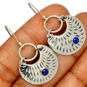 Southwest American - Lapis - Afghanistan 925 Silver Earring Jewelry BE5859