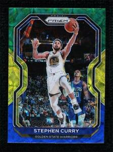 2020-21 Panini Prizm Choice Blue Yellow & Green Stephen Curry #159