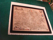 original circa 1665 Hassia Landgraviatus Map framed; Hand Colored, Germany