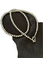 """NWOT Native American Navajo Pearls 5mm Sterling Silver Bead Necklace 20"""" Sale"""