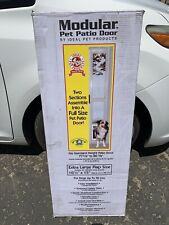 "Ideal Pet Aluminum Modular Pet Patio Door, adjustable height 77-5/8"" - 80 3/4"""